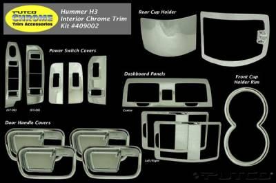 H3 - Body Kit Accessories - Putco - Hummer H3T Putco Exterior Chrome Accessory Kit - 15PC - 409002