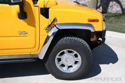 H2 - Body Kit Accessories - Putco - Hummer H2 Putco ABS Fender Trim - Chrome - 497006