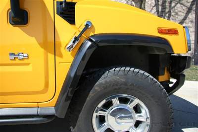 H2 - Body Kit Accessories - Putco - Hummer H2 Putco ABS Fender Trim - Carbon Fiber - 497007