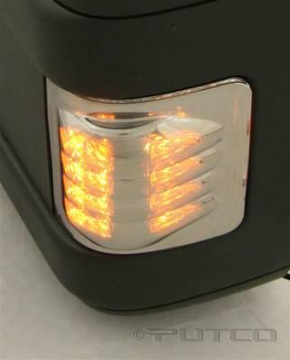 F350 - Mirrors - Putco - Ford F350 Superduty Putco LED Mirror Replacements - Ion Chrome - 930308