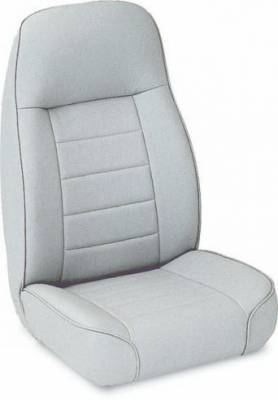 Car Interior - Racing Seats - Rampage - Jeep CJ Rampage Standard Front Seat - Black Denim - 5044915
