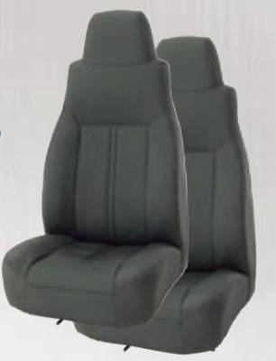 Car Interior - Racing Seats - Rampage - Jeep CJ Rampage Factory Style Recliner with Late Model Headrest - Black Denim - 5045115