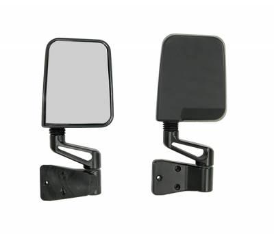 Wrangler - Mirrors - Omix - Rugged Ridge Factory Style Mirror - Pair - UV Treated Black Plastic - 11002-03