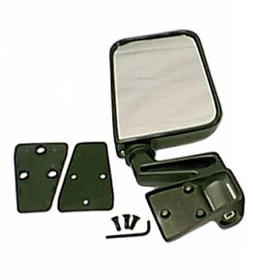 Wrangler - Mirrors - Omix - Rugged Ridge Factory Style Mirror - UV Treated Black Plastic - 11002-05