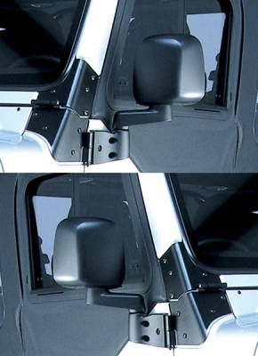 Wrangler - Mirrors - Omix - Rugged Ridge Factory Style Mirror - Pair - 11002-09