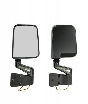 Wrangler - Mirrors - Omix - Rugged Ridge LED Mirror - Pair - Black - 11015-01