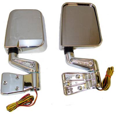 Wrangler - Mirrors - Omix - Rugged Ridge LED Mirror - Pair - Chrome - 11016-01