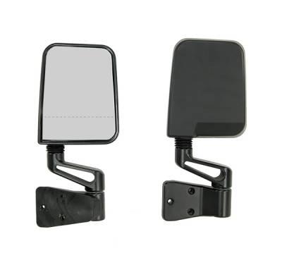 Wrangler - Mirrors - Omix - Rugged Ridge Dual Focal Point Mirror - Black - 11017-01