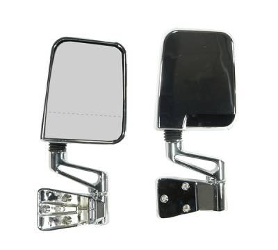 Wrangler - Mirrors - Omix - Rugged Ridge Dual Focal Point Mirror - Chrome - 11018-01