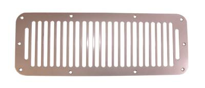 Wrangler - Hoods - Omix - Rugged Ridge Hood Vent - Stainless Steel - Drilling May Be Required - 11185-06