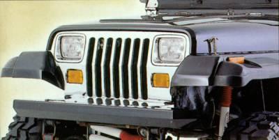 Wrangler - Front Bumper - Omix - Rugged Ridge Classic Rock Crawling Front Bumper - Textured Black - 11502-2