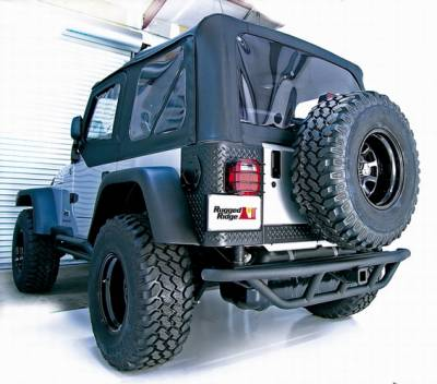 Wrangler - Rear Bumper - Omix - Outland RRC - Rear Bumper with Hitch - 11503-11