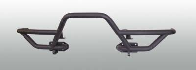 Wrangler - Front Bumper - Omix - Rugged Ridge Xtreme Heavy Duty - RRC Mount Tube Bumper - Textured Black - 11540-18