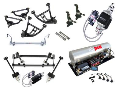 Suspension - Air Suspension Kits - RideTech by Air Ride - Chevrolet Camaro RideTech Level 3 Air Suspension System - 11160399