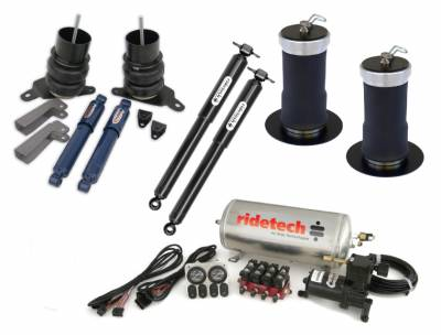 Suspension - Air Suspension Kits - RideTech by Air Ride - Chevrolet El Camino RideTech Level 1 Air Suspension System - 11220199