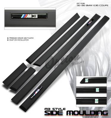 3 Series 2Dr - Body Kit Accessories - OptionRacing - BMW 3 Series Option Racing Side Molding Body Kit - 29-12101