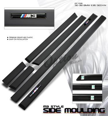 3 Series 4Dr - Body Kit Accessories - OptionRacing - BMW 3 Series Option Racing Side Molding Body Kit - 29-12102