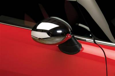Cooper - Mirrors - Putco - Mini Cooper Putco Manual Mirror Overlays - Chrome - 400516M