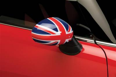 Cooper - Mirrors - Putco - Mini Cooper Putco Manual Mirror Overlays - Union Jack - 400517M