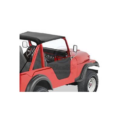 CJ5 - Doors - Omix - Omix Lower Half Soft Fabric Door - Black - 53025-01