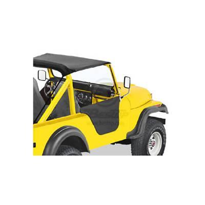 CJ5 - Doors - Omix - Omix Lower Half Soft Fabric Door - Black - 53027-01