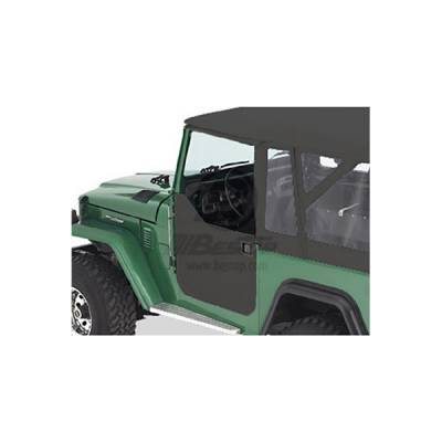 Land Cruiser - Doors - Omix - Omix Lower Half Soft Fabric Door - Black - 53030-01