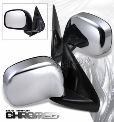 Ram - Mirrors - OptionRacing - Dodge Ram Option Racing OEM Style Mirror - Chrome - Pair - Foldable - 78-17101