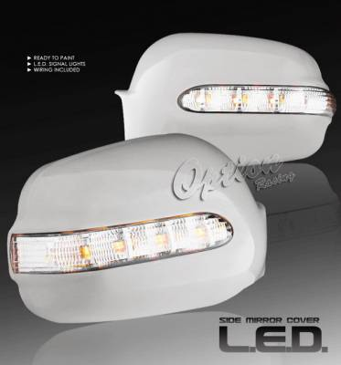 LX - Mirrors - OptionRacing - Lexus LX Option Racing OEM Style Mirror Cover with LED Reverse Light & Foot Light - 78-29134