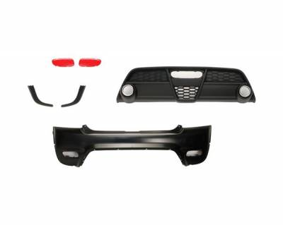 Cooper - Rear Add On - Putco - Mini Cooper Putco Rear Bumper Addon Kit - 6PC - 900070RB