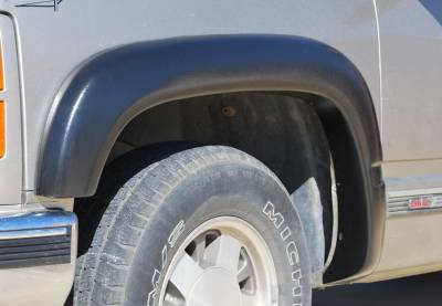 Suburban - Fender Flares - Prestige - Chevrolet Suburban Prestige Front Pair EX Wide Style Textured Fender Flare Set - EX101TA