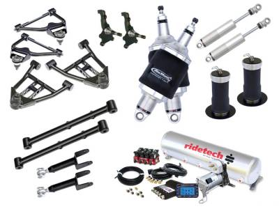 Suspension - Air Suspension Kits - RideTech by Air Ride - Chevrolet Malibu RideTech Level 2 Air Suspension System - 11240299
