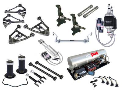 Suspension - Air Suspension Kits - RideTech by Air Ride - Chevrolet El Camino RideTech Level 3 Air Suspension System - 11240399