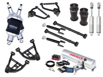 Suspension - Air Suspension Kits - RideTech by Air Ride - Chevrolet El Camino RideTech Level 2 Air Suspension System - 11320299
