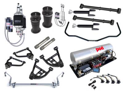 Suspension - Air Suspension Kits - RideTech by Air Ride - Chevrolet El Camino RideTech Level 3 Air Suspension System - 11320399
