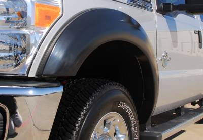 F350 - Fender Flares - Prestige - Ford F350 Prestige Front Pair EX Wide Style Textured Fender Flare Set - EX314TA