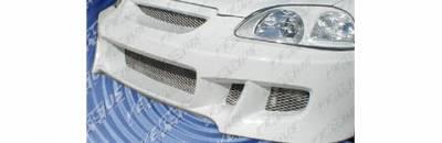 Pure - Honda Civic Pure Racer Style Front Bumper - HT617P