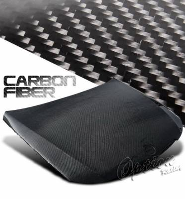 3 Series 4Dr - Hoods - OptionRacing - BMW 3 Series Option Racing Carbon Fiber Hood - OEM Style - NRG-CH-BE90-OE