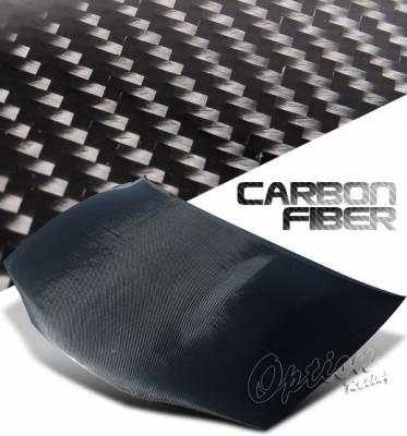 Eclipse - Hoods - OptionRacing - Mitsubishi Eclipse Option Racing Carbon Fiber Hood - NRG-CH-M013
