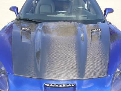 Corvette - Hoods - RKSport - Chevrolet Corvette RKSport Carbon Fiber Violator Supercharger Hood - 16011008