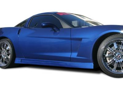 Corvette - Side Skirts - RKSport - Chevrolet Corvette RKSport Side Skirts - 16012006