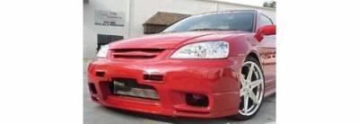 Pure - Honda Civic Pure R33 Style Front Bumper - P44802