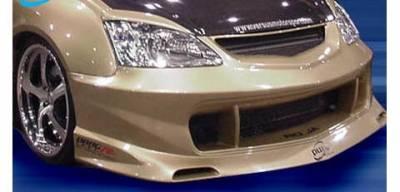 Pure - Honda Civic Pure Super Street Style Wide Style Front Bumper - P44851