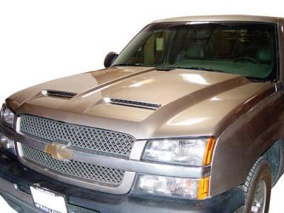 Silverado - Hoods - RKSport - Chevrolet Silverado RKSport Ram Air Hood - 29012000