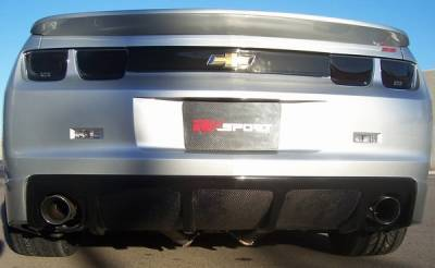 Camaro - Rear Add On - RKSport - Chevrolet Camaro RKSport Carbon Fiber Rear Dual Exhaust Filler Diffuser - 40011043