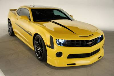 Innovatative Vehicle Solutions - Chevrolet Camaro IVS Havoc Chin Spoiler & Rocker Skirts & Rear Diffuser Combo - 9006-9005-01