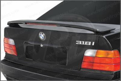 Restyling Ideas - BMW 3 Series Restyling Ideas Factory Style Spoiler with LED - 01-BM3S92FL
