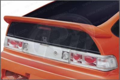 Spoilers - Custom Wing - Restyling Ideas - Honda CRX Restyling Ideas Whale Tail Style Spoiler with Wiper Hole - 01-HOCR88CW
