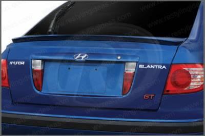 Spoilers - Custom Wing - Restyling Ideas - Hyundai Elantra HB Restyling Ideas Lip Style Spoiler - 01-HYEL02HC