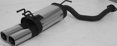 Exhaust - Mufflers - Remus - Nissan 300Z Remus Rear Silencer - Left Side with Dual Exhaust Tips - Square - 608091 0502L