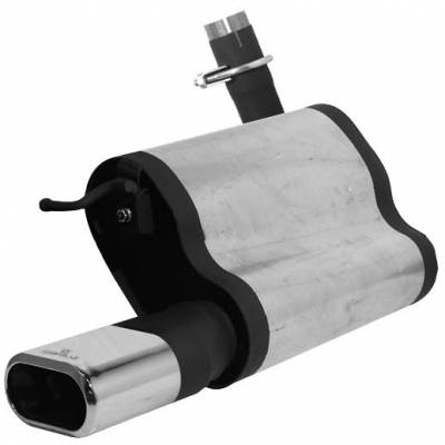 Exhaust - Mufflers - Remus - Mercedes-Benz E Class Remus Rear Silencer - Right Side with Exhaust Tip - Square - 509502 0509MR